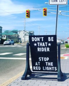 Stop at Red Lights Sign